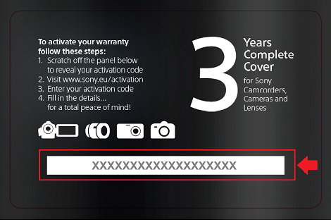 Extended warranty back card code example